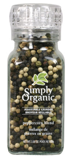 Simply Organic: Peppercorn Blend with Grinder (85g)