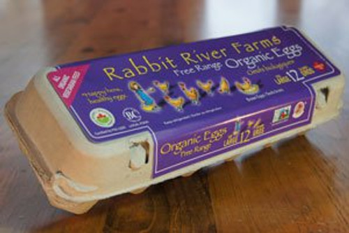 Rabbit River: Large Organic Eggs (1 Dozen)