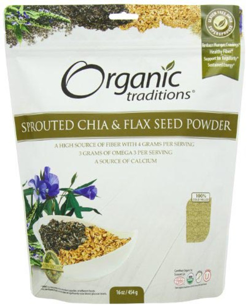 Organic Traditions: Sprouted Omega Chia / Flax (454g)