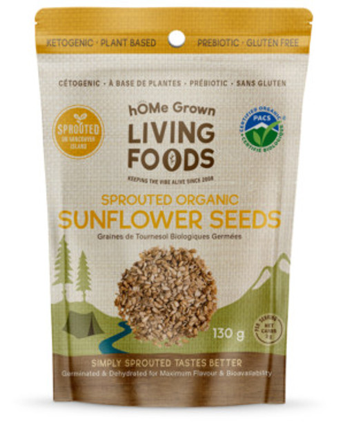 hOme Grown Living Foods: Sprouted Organic Sunflower Seeds (150g)