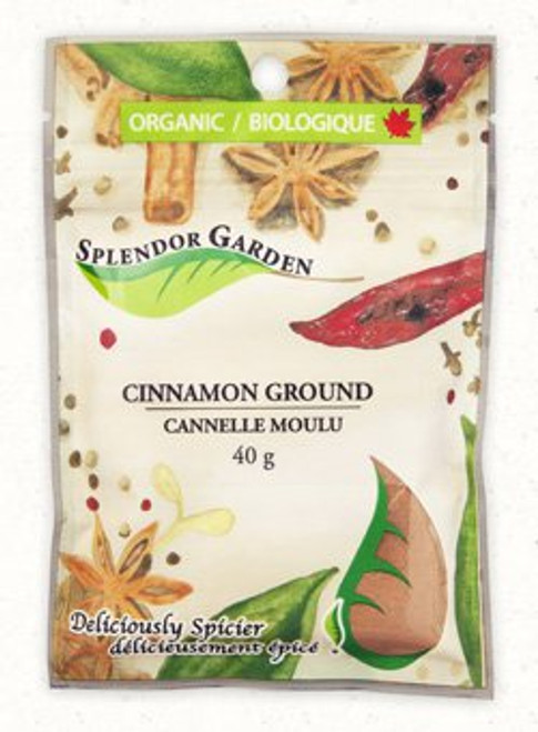 Splendor Garden: Organic Cinnamon Ground (40g)