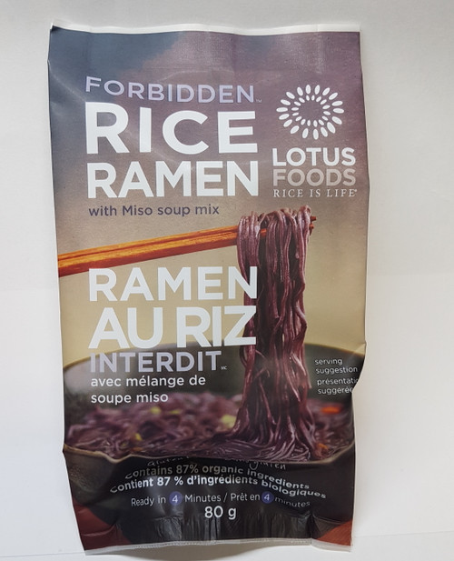 Lotus Foods: Forbidden Rice Ramen with Miso Soup (80g)