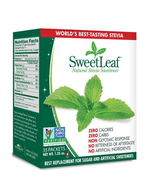 SweetLeaf: Natural Stevia Extract Sweetener Packets (35 Units)