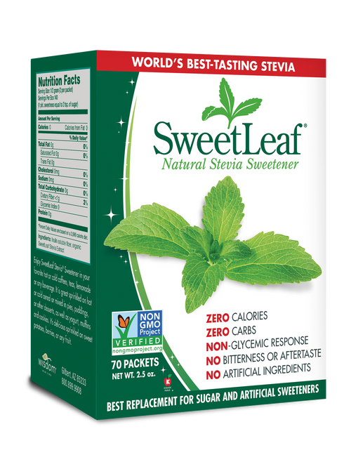 SweetLeaf: Natural Stevia Extract Sweetener Packets (70 Units)