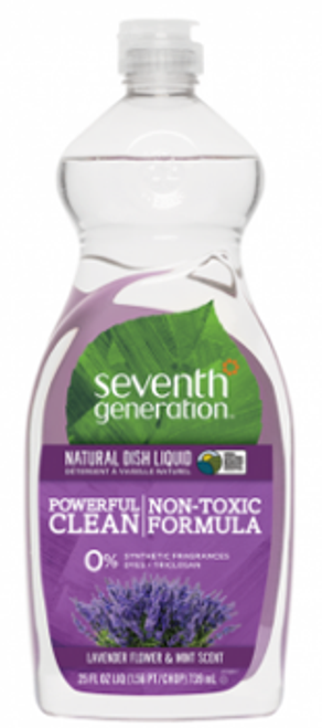 Seventh Generation: Natural Dish Liquid - Powerful Clear Lavender & Mint (739ml)