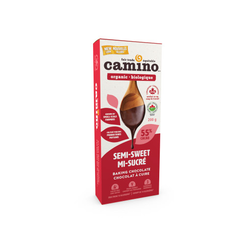 Cuisine Camino: 55% Cocoa Semi-Sweet Baking Chocolate (200g)