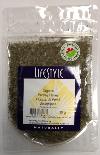 Lifestyle Markets: Organic Parsley Flakes (10g)