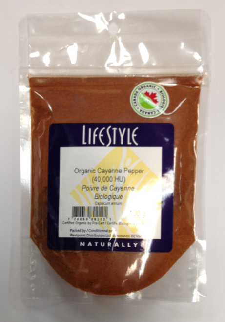 Lifestyle Markets: Organic Cayenne Pepper (100g)