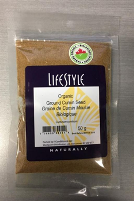Lifestyle Markets: Organic Ground Cumin Seed (50g)