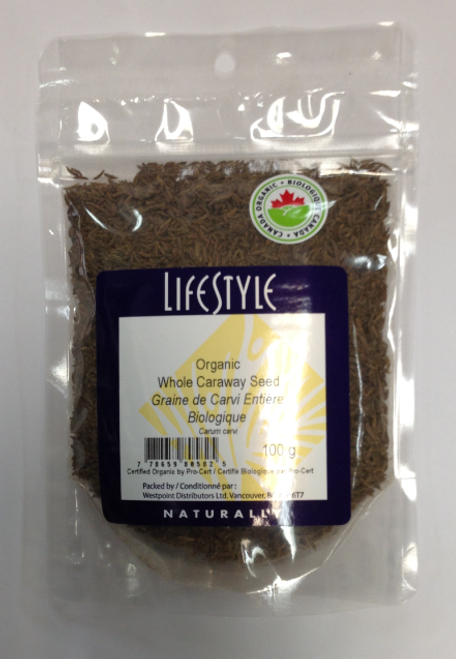 Lifestyle Markets: Organic Whole Caraway Seed (100g)