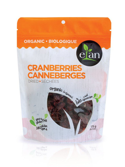 Elan: Organic Dried Cranberries (175g)