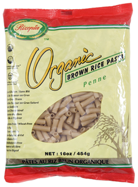 Rizopia Food Products: Organic Brown Rice Penne Pasta (454g)