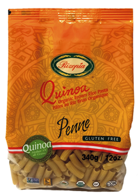 Rizopia Food Products: Organic Quinoa Brown Rice Penne Pasta (340g)