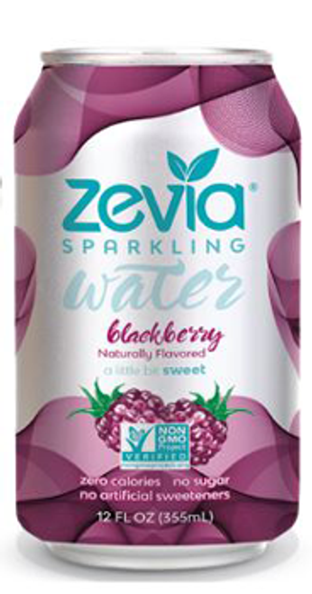 Zevia: Carbonated Water - Blackberry
