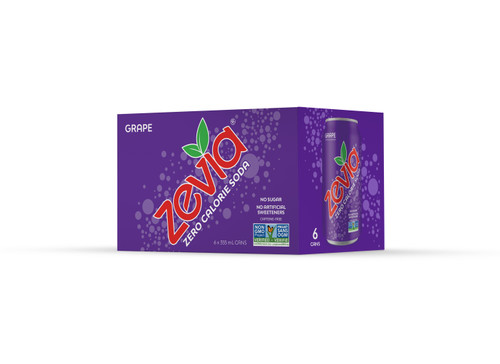 Zevia: Grape Soda (6pk)