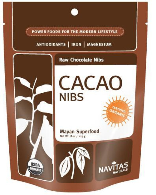 Buy Raw Chocolate Cacao Nibs from Navitas Naturals (227g)