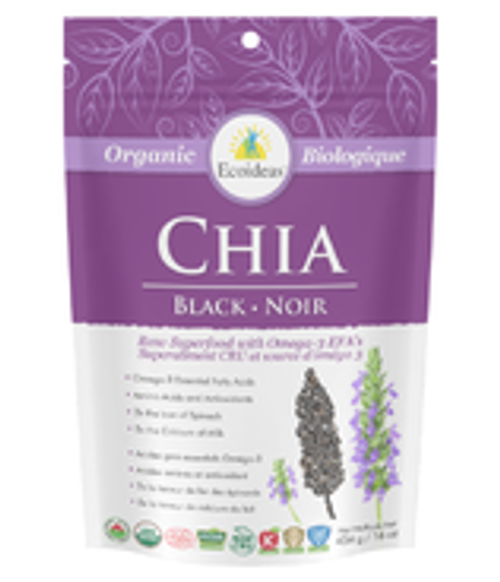 Ecoideas: Black Chia Seeds (454g)