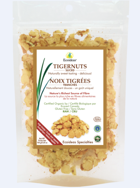 Ecoideas: Raw Organic Sliced Tigernuts (150g)