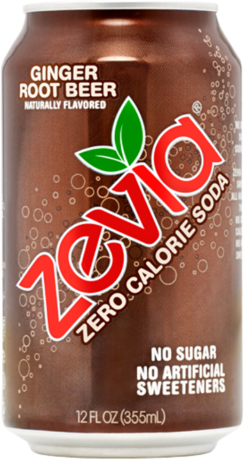 Buy Ginger Root Beer Soda from Zevia (355ml)