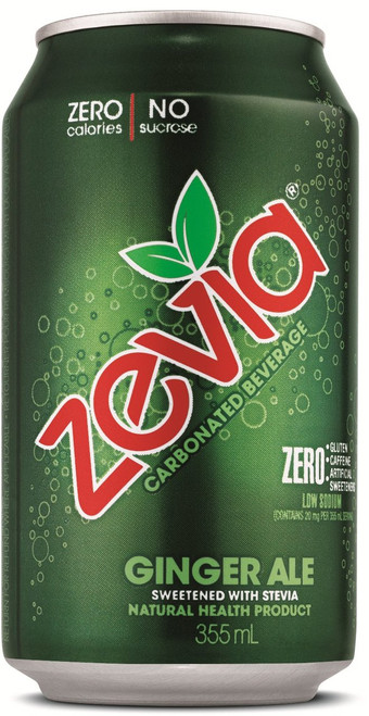 Zevia: Ginger Ale (355ml)