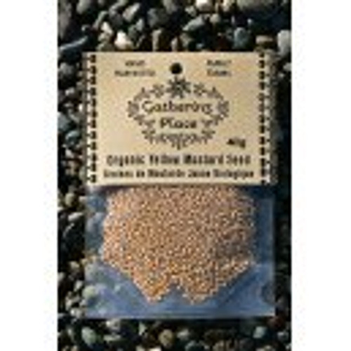 Gathering Place: Organic Yellow Mustard Seed (40g)