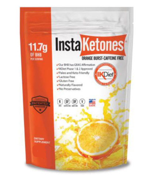 InstaKetones: Orange Burst (Caffeine Free) Dietary Supplement (525g)