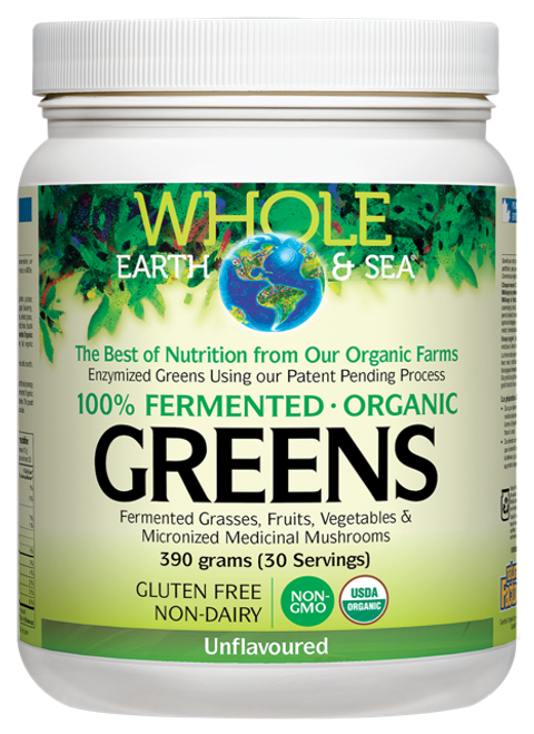 Whole Earth & Sea: Fermented Greens - Unflavoured (390g)