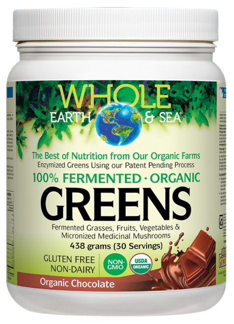 Whole Earth & Sea: Fermented Greens - Chocolate (438g)