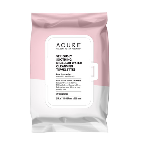 Acure: Seriously Soothing Micellar Water Cleansing Towelettes