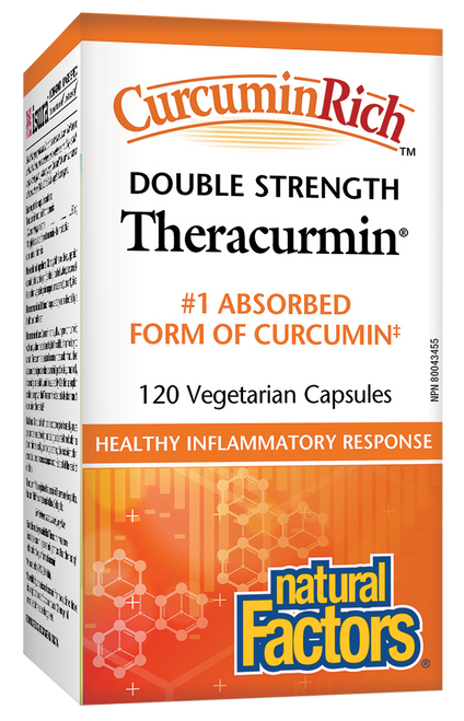 Natural Factors: CurcuminRich Double Strength Theracurmin (120 Vegetarian Capsules)