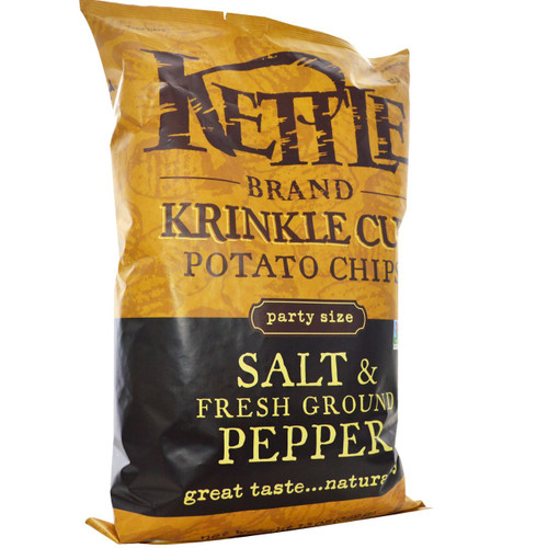 Kettle: Krinkle Cut Chips Salt & Fresh Ground Pepper (397g)