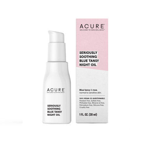 Acure: Seriously Soothing Blue Tansy Night Oil (30ml)