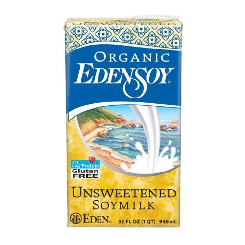 Eden: Organic Unsweetened Soy Beverage (946ml)