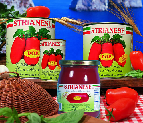 Strianese Brand: San Marzano Tomatoes with Basil (796ml)