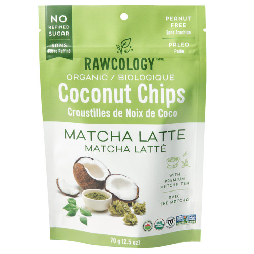 Rawcology: Superfood Coconut Chips - Matcha Latte (90g)