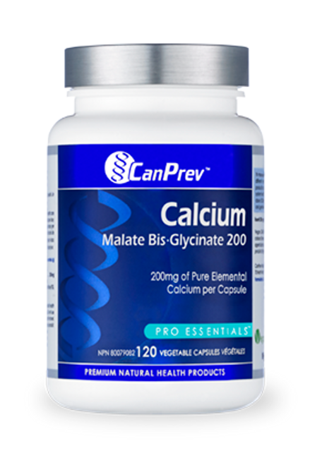 CanPrev: Calcium Malate Bis-Glycinate 200 (120 Vegetable Capsules)