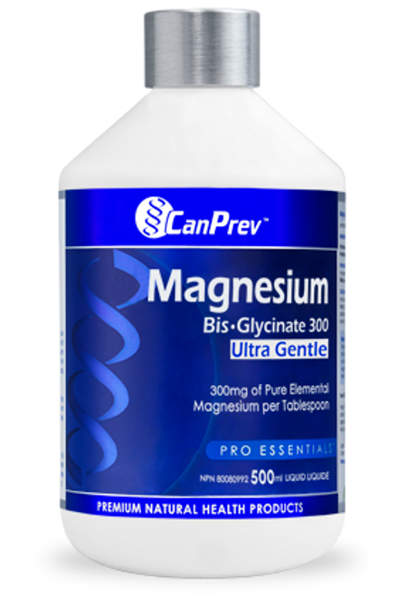 CanPrev: Magnesium Bis-Glycinate 300 - Ultra Gentle (500ml)