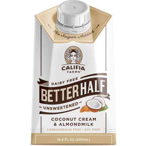Califia Farms: Better Half Coffee Creamer - Unsweetened (500ml)