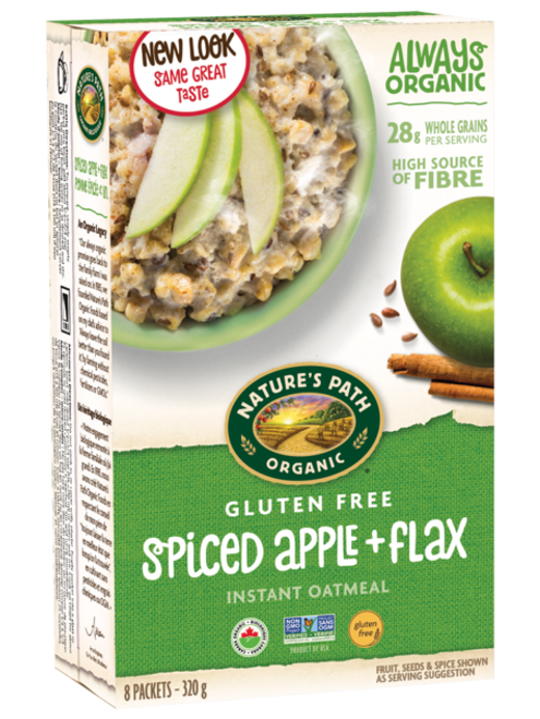 Nature's Path: Pure Oats Hot Oatmeal Spiced Apple with Flax (320g)