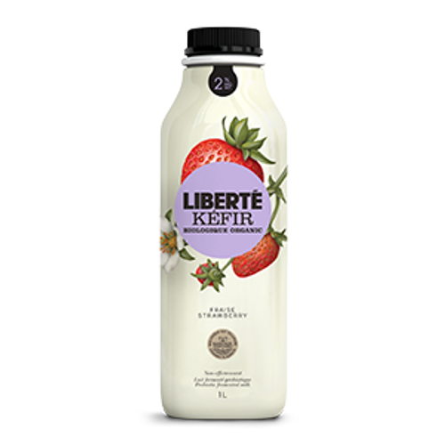Liberte: 2% MF Kefir - Strawberry (1L)