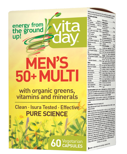 VitaDay: Men's 50 + Multi (60 Vegetarian Capsules)