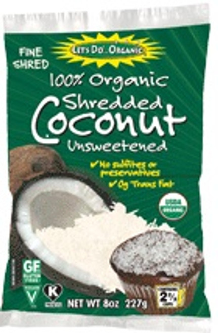 Let's Do Organic: Organic Unsweetened Coconut Shredded (250g)