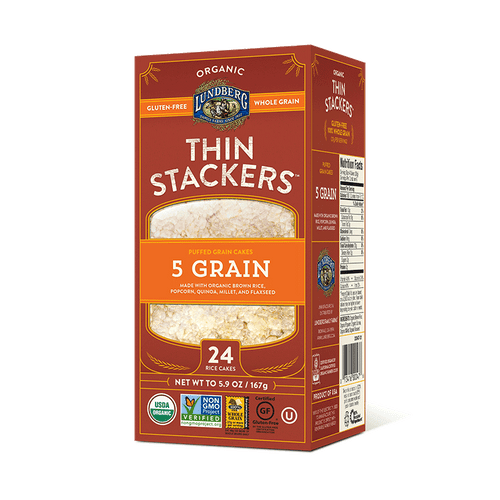 Lundberg: Organic 5 Grain Thin Stackers - Salt-Free (24 Count)