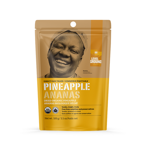 Level Ground Trading: Organic Dried Pineapple (100g)