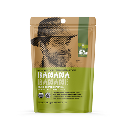 Level Ground Trading: Organic Dried Banana (130g)