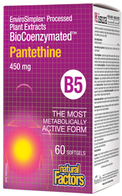 Natural Factors: BioCoenzymated Pantethine B5 (450 mg) (60 Soft Gels)
