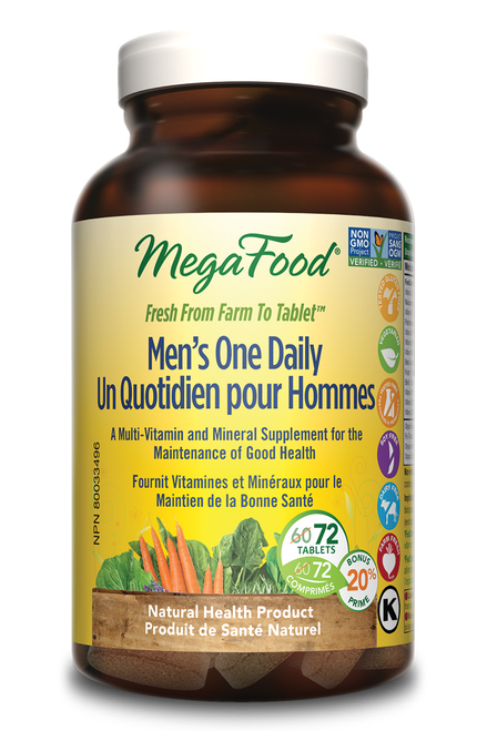MegaFood: Men's One Daily (Bonus) (72 Tablets)