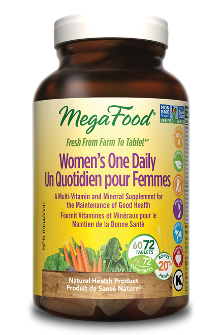 MegaFood: Women's One Daily Multivitamin (Bonus) (72 Tablets)