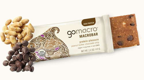 Go Macro: Macro Bar - Peanut Butter + Chocolate Chip (71g)