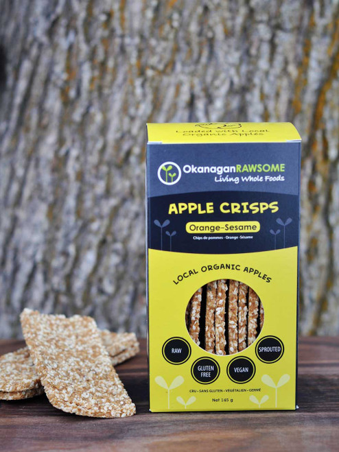 Okanagan Rawsome: Apple Crisps Orange-Sesame